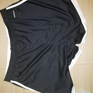Black and white Adidas shorts
